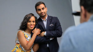 Mandatory Credit: Photo by Chelsea Lauren/Variety/REX/Shutterstock (5622630r) Kerry Washington and Aziz Ansari Variety Studio: Actors on Actors, Los Angeles, America - 03 April 2016